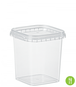 QUADRAT-BECHER 520 ML / 95 x 95 mm / TRANSPARENT
