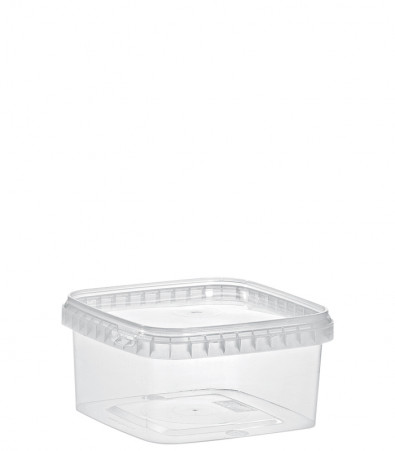 QUADRAT-BECHER 600 ML /128 x 128 mm / TRANSPARENT