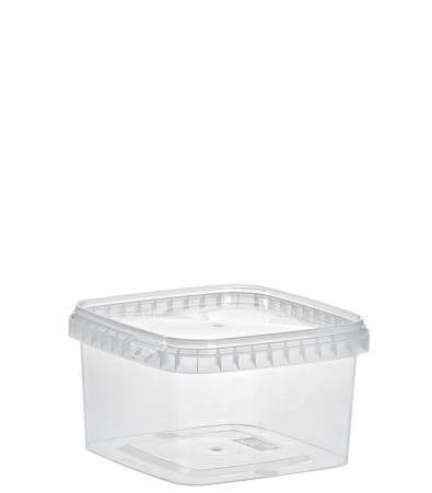 QUADRAT-BECHER 750 ML /128 x 128 mm / TRANSPARENT