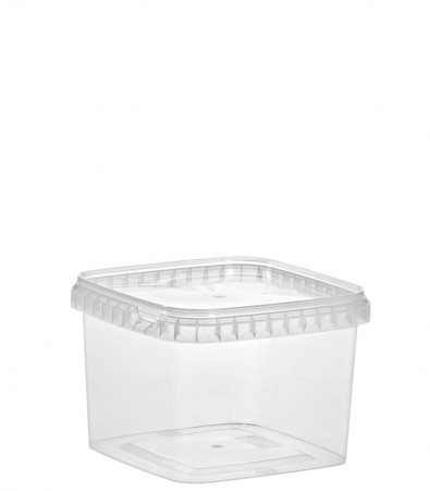 QUADRAT-BECHER 900 ML /128 x 128 mm / TRANSPARENT