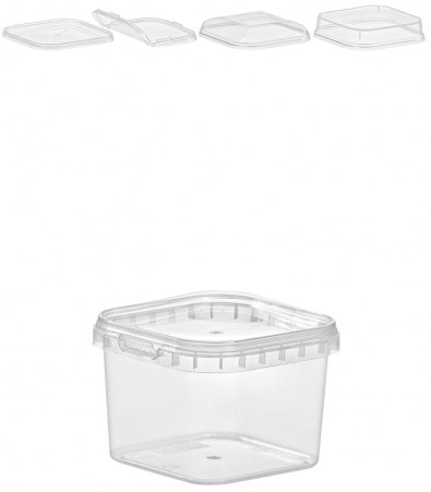 QUADRAT-BECHER 225  ML / 79 x 79 mm / TRANSPARENT