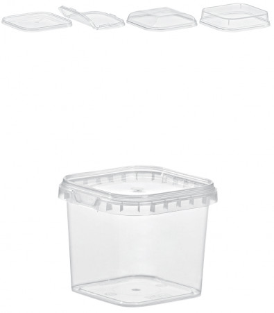 QUADRAT-BECHER 280  ML / 79 x 79 mm / TRANSPARENT