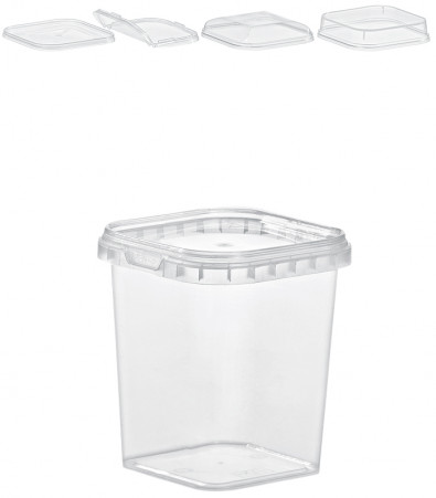 QUADRAT-BECHER 365  ML / 79 x 79 mm / TRANSPARENT