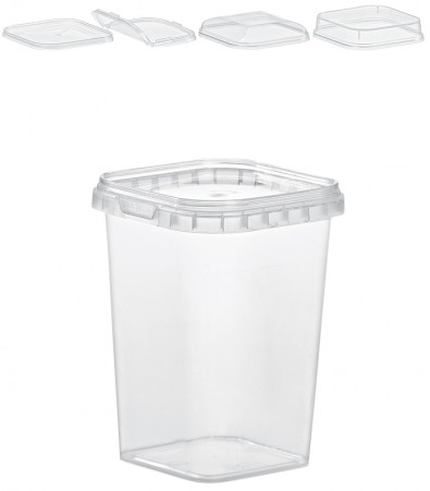 QUADRAT-BECHER 425 ML / 79 x 79 mm / TRANSPARENT