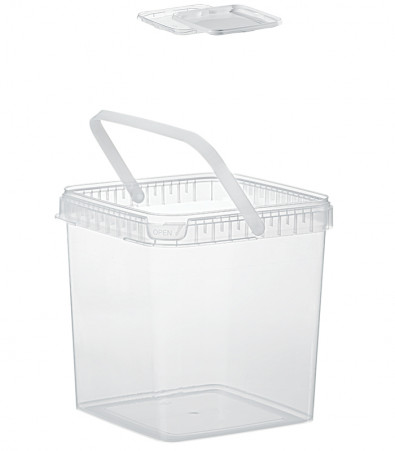 QUADRAT-EIMER 5,9 L / TRANSPARENT