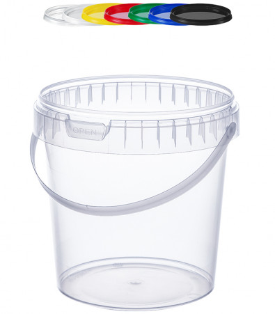 RUND-EIMER TOP 1,2 L / TRANSPARENT